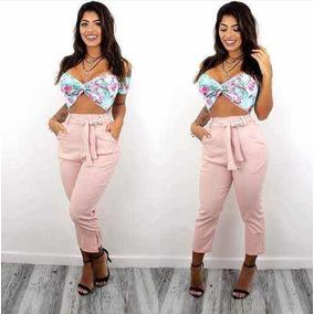 0ed2ca13b5 Calça Pantacourt Pantalona Social Cintura Alta Feminina