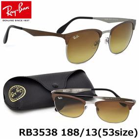 78e6c74941e9a Lentes De Sol Ray Ban Rb3538 188 13 Marrón Clubmaster Unisex