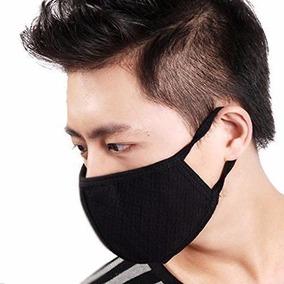 Cubrebocas Negro Kpop Coreano