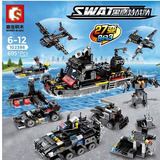 Lego, Bloques De Construccion Swat Compatible Con Lego 8en 1