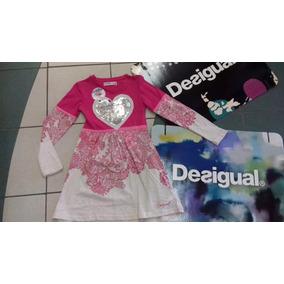Vestido Desigual Niña Blondie Rosa 5/6 A 13/14 Años Oferta A