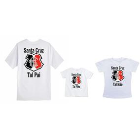 Camisetas Tal Pai Mãe Filho(a) Time Santa Cruz e8ac492929d6c