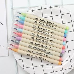 Caneta Pincel Brush Pen Fabricolor Estojo 10 Cores Lettering
