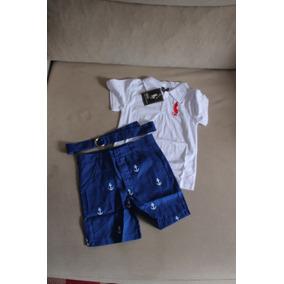 c915a9124bd0c Conjunto Infantil Menino Polo Ralph Lauren Tamanho 5