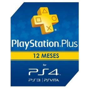 Cartão Psn Playstation Plus 12 Meses 1 Ano Ps4 Unica Digital