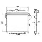 Radiador Agua Chevrolet Opala Caravan C10 4cil 12229