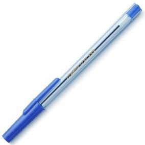 Caneta Esferográfica Fina 0.7mm Azul 100 Unidades Compactor