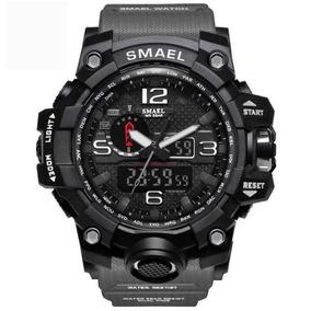 Reloj Smael Shock Sport Hombre 1545 Color Gris Oferta! f83f55a5ec83