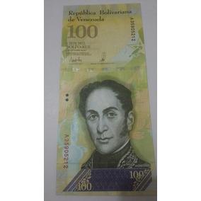 2 Cédula De 100 Mil Bolívares Fe.