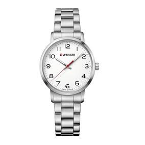 Relógio De Pulso Feminino Suíço Wenger Avenue Lady Aço Inox
