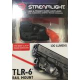Lanterna Streamlight Tlr-6 Glock Com Trilho G25 G17 G22 G19