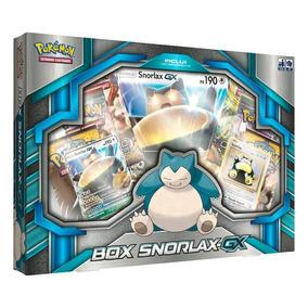 Pokémon Box Snorlax Gx Original C/ Carta Gigante/extragrande