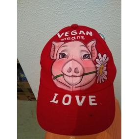 Gorras Visera Pintada A Mano Vegan Animales Unica 14 Feb
