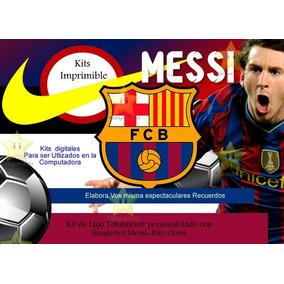 Kit Imprimible Fc Barcelona Futbol Fiesta