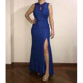Vestido de formatura azul bic