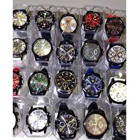 Kit 10 Relógios Masculino Atacado Revenda Silicone + Caixa