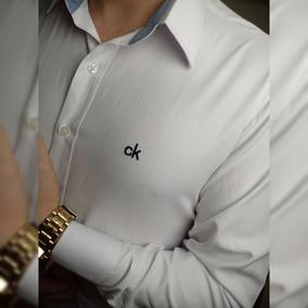 2f798e616e Camisa Masculina Slim Fit Social Casual Camiseta Mega Oferta
