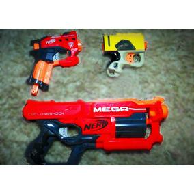 Kit Nerf | 2 Mega + 1 N-strike (s/ Dardos) | Sem Caixa