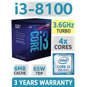 Processador Intel Core I3-8100 Coffee Lake 8a Geração, Box.
