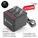 Cargador + 3 Baterias Para Gopro Hero 5/6/7