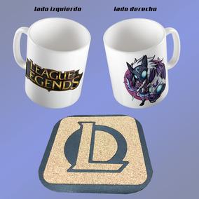 Taza League Of Legends Personalizable Mas Regalo Porta Vasos