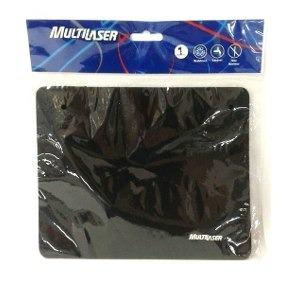 Kit Mouse Pad Tecido Preto Ac27 Multilaser 20 Unidades