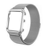Banda Magn¨¦tica Com Capa Para 42 Mm Apple Watch - Prata