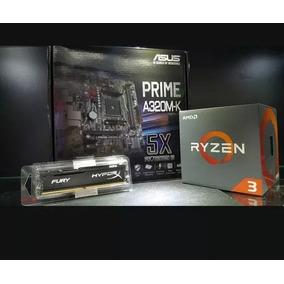 Kit Upgrade Gamer Asus + Ryzer 5 1600x + 4gb Ddr4