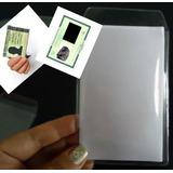 Protetor Para Documento Cnh Rg Identidade Grosso 0,20 C/50