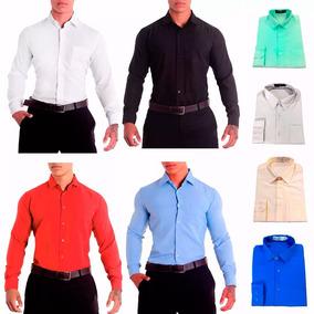 6cdc762da6 Camisa Social Masculina Lisa Manga Longa P  Empresas