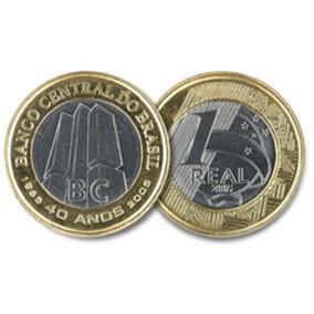 Moeda 1 Real Banco Central 40 Anos