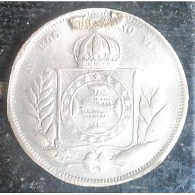 Arremate 1858 200 Reis Coroa Espinho Defeito Cunho Prata