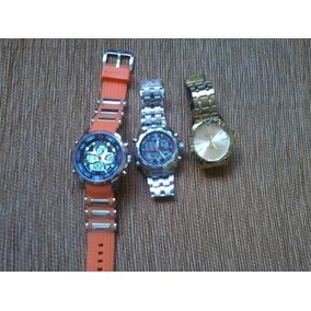 Kit Com 3 Relógios Semi-novos