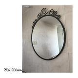 Espejo Con Marco En Metal Galbanizado 1500