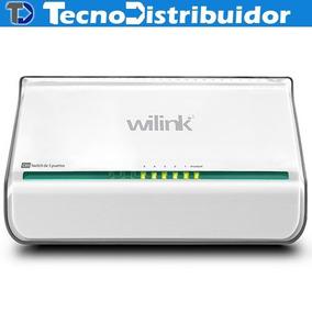 Switch 5 Puertos Marca Wilink C05, Redes, Rj45. Td