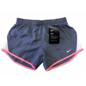 Shorts Nike Feminino Infantil Dri Fit Cinza E Rosa Original 5bde085da61c6