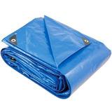 Lona Polietileno Reforçada 20 X 10 Laranja/azul 200 Micras