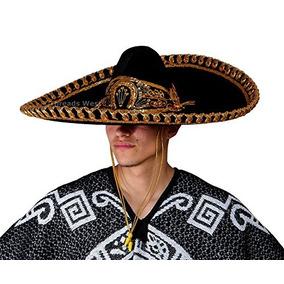 1ec91f84d27f9 Sombrero De Charro Adulto Premium De Threads West Negro Y D
