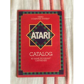 Revista Catálogo De 45 Jogos Atari De 1981 - Novo E Raíssimo