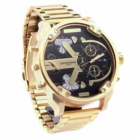 Relógio Shiweibao 3137 Black Gold Diesel Big Daddy Masculino
