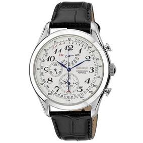 Relógio Masculino Seiko Neoclassic Branco/couro Alarme Data