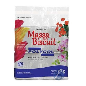 Massa De Biscuit Polycol Natural 1kg
