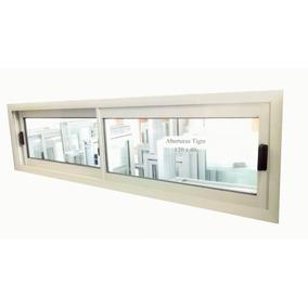 Ventana Aluminio Blanco 120x40 Cm Vidrio Entero 4mm