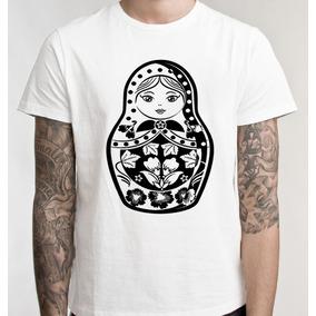 Blusas Femininas Baby Look Branca Brasil Matrioska T Shirts. São Paulo ·  Camiseta Camisa Blusa Feminino Masculino Matriosca a7beebeb3dab9