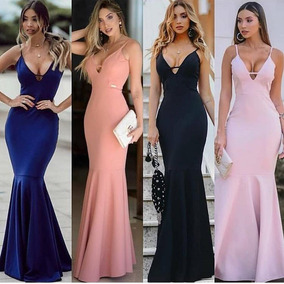 915e12e5f Vestido De Festa Cor De Rosa Claro - Vestidos Femininas Coral claro ...