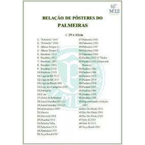 Kit 20 Pôsteres Do Palmeiras Com Frete Grátis, Compre Já!