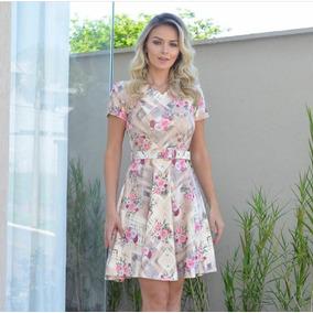 Vestido Godê Com Cinto Priscila - Moda Evangélica