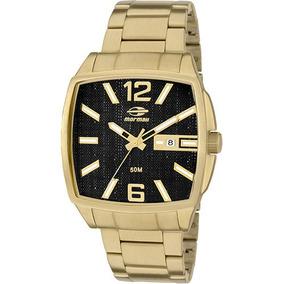 fc77909ffa1 Relógio Mormaii Mo2315zn 4p Mo2315zn4p Pulso Ouro Grande