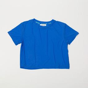 Crop Top Azul Mesh Transparente Tscbell16/51 Tienda Oficial