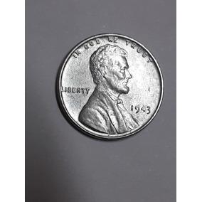 Moeda One Cent Linconl 1943 Steel, Fc, Nao Circulada, Bonita